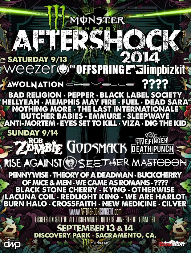 Rob Zombie, Rise Against, Weezer, More Announced For Aftershock 2014