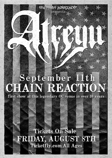 Atreyu Announce Show Before Aftershock