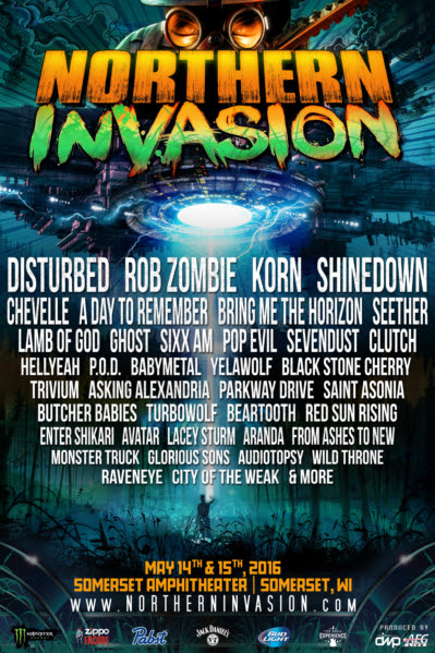 Northern Invasion Festival 2016 Lineup