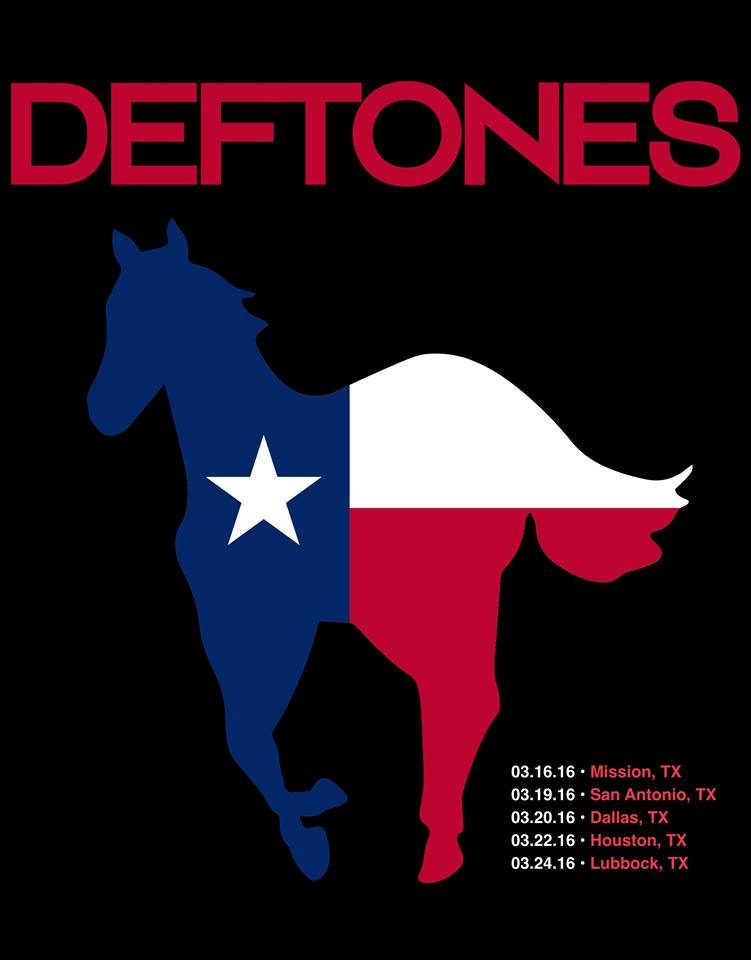 Deftones Announce Texas Tour In March