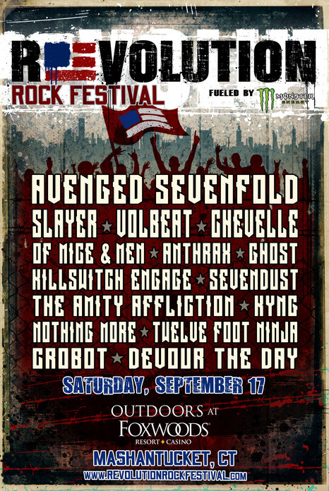 Revolution Rock Festival 2016 Lineup