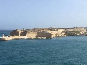 Fortress defending the Valetta grand harbor