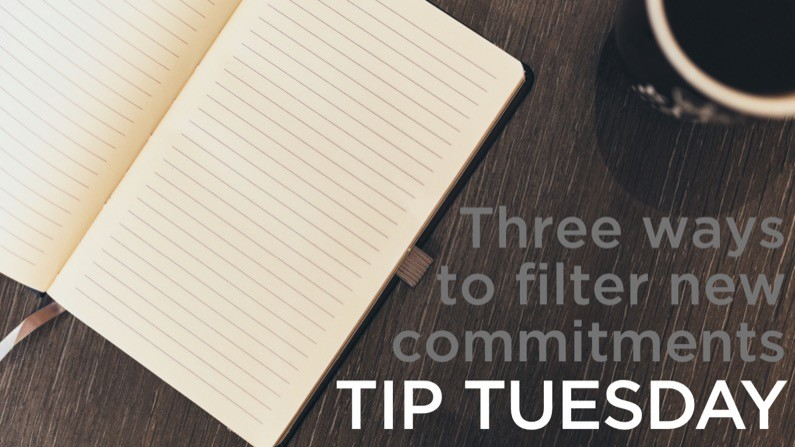 Three ways to filter new commitments – Tip Tuesday