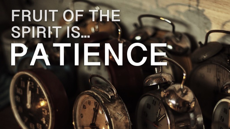 The Fruit of the Spirit Is… Patience