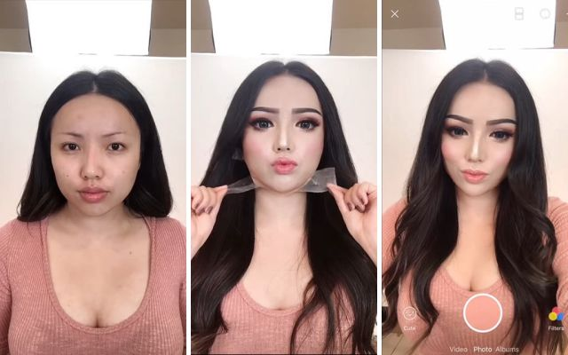 "transformasi perubahan dengan cara makeup pahat ala china - Tutorial Cara Makeup ""Pahat"" Ala China"