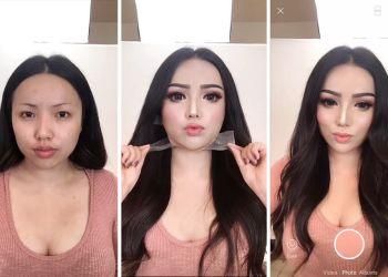 """transformasi perubahan dengan cara makeup pahat ala china - Tutorial Cara Makeup """"Pahat"""" Ala China"""