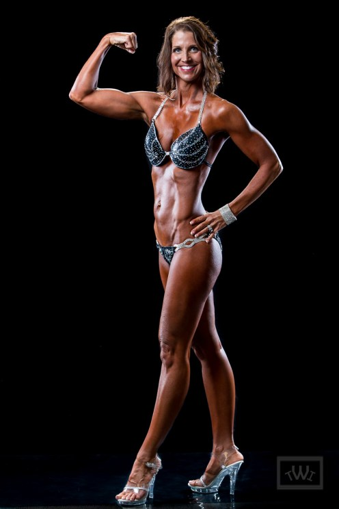 Bikini Competitor Flexing
