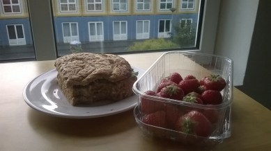 bread and strawberries for breakfast | Aug.20