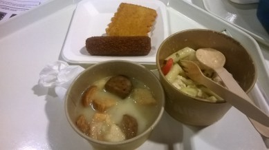 pasta, soup, kroket for lunch at Welcome Cafe | Aug.20