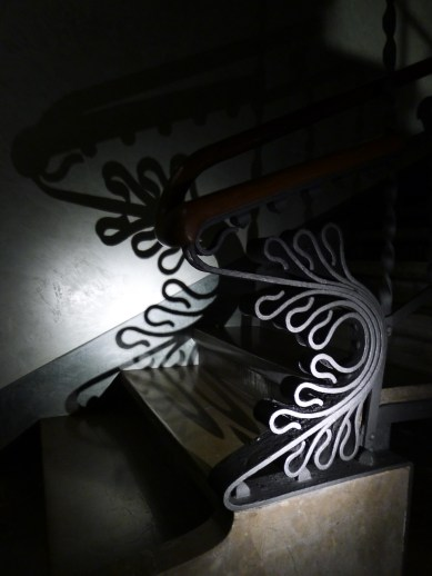 the beauty of the wrought iron.