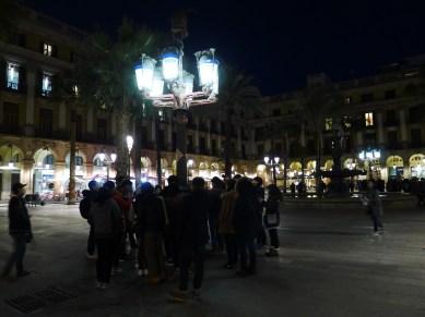 the Gaudi lamp at Placa Reial.