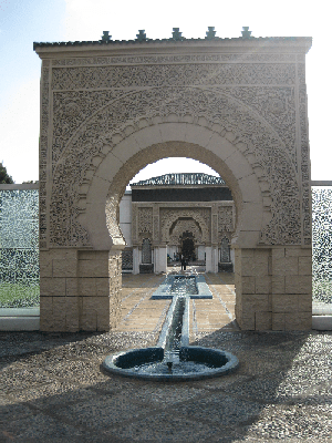 At the Morocco Pavillion at Putrajaya's Botanical Garden