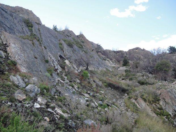 cliff face glacier  grey