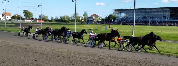 Copenhagen Cup-feltet på vej ind i opløbssvinget.