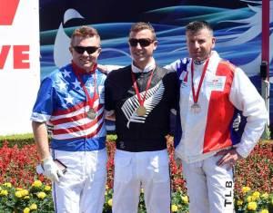 Dexter Dunn flankeret af Tim Tetrick og Tony Le Beller. Foto Gerard Forni