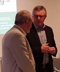 Danske Spils direktør H C Madsen  takkede Rolf Laugesen for hans indsats i firmaet,