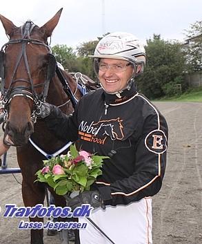Ken Ecce havde god grund til at smile på Lunden i eftermiddag. Arkivfoto