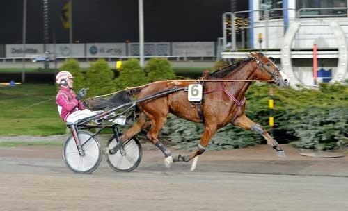 Robinia Facemed Lutfi Kolgjini vandt Breeders Crown sikkert i 1.14.1a/1640 m Foto Kanal 75