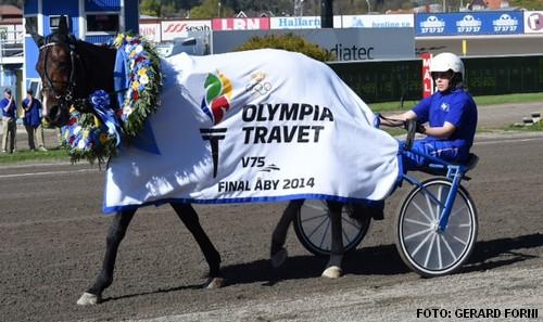 Solvato med Veijo Heiskanen efter sejren i Olympiatravet i fjor