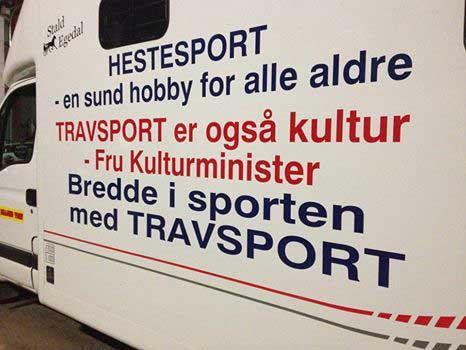 Et hestetransport fra Billund