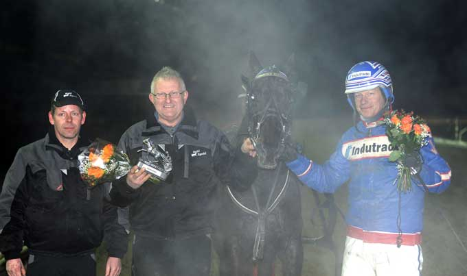 Børge Mathiesen kom ikke til at fortryde at Joakim Løvgren holdt fast ved at Rocky Egedal skulle starte. Foto Kanal 75