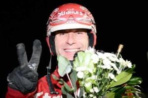 Peter Untersteiner var den store vinder på Halmstadtravet i aftes. Foto Kanal 75