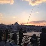 Istanbul Galatabrug vissers