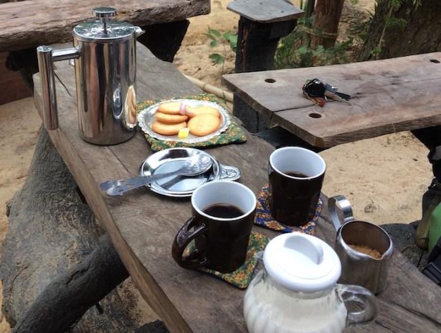 Gehydrateerd blijven en koffie
