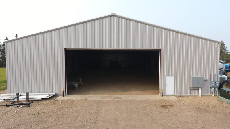 Trawin Seeds storage shed for farm equipment