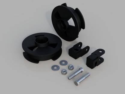 Kit #605042 – 2014-2021 Dodge Ram 2500 – fits 4×4 2″ Rear Lift Kit