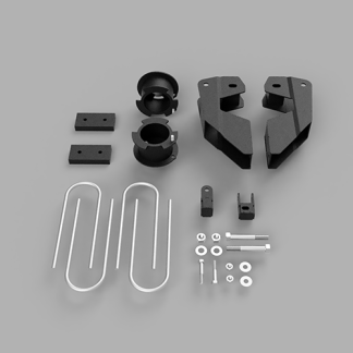 Kit #605059 – 2013-2021 Dodge Ram 3500 4X4/4×2 – 3.5″ Front And 2″ Rear Lift Kit – DIESEL WITH OVERLOAD SPRINGS ONLY