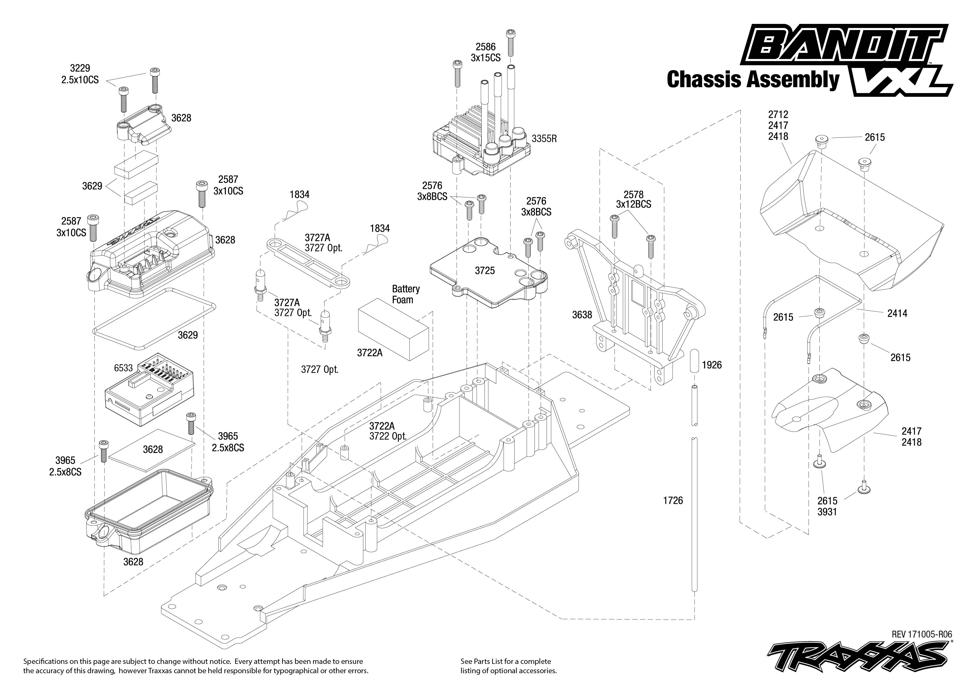Bandit Vxl 3 Chassis Assembly Exploded View