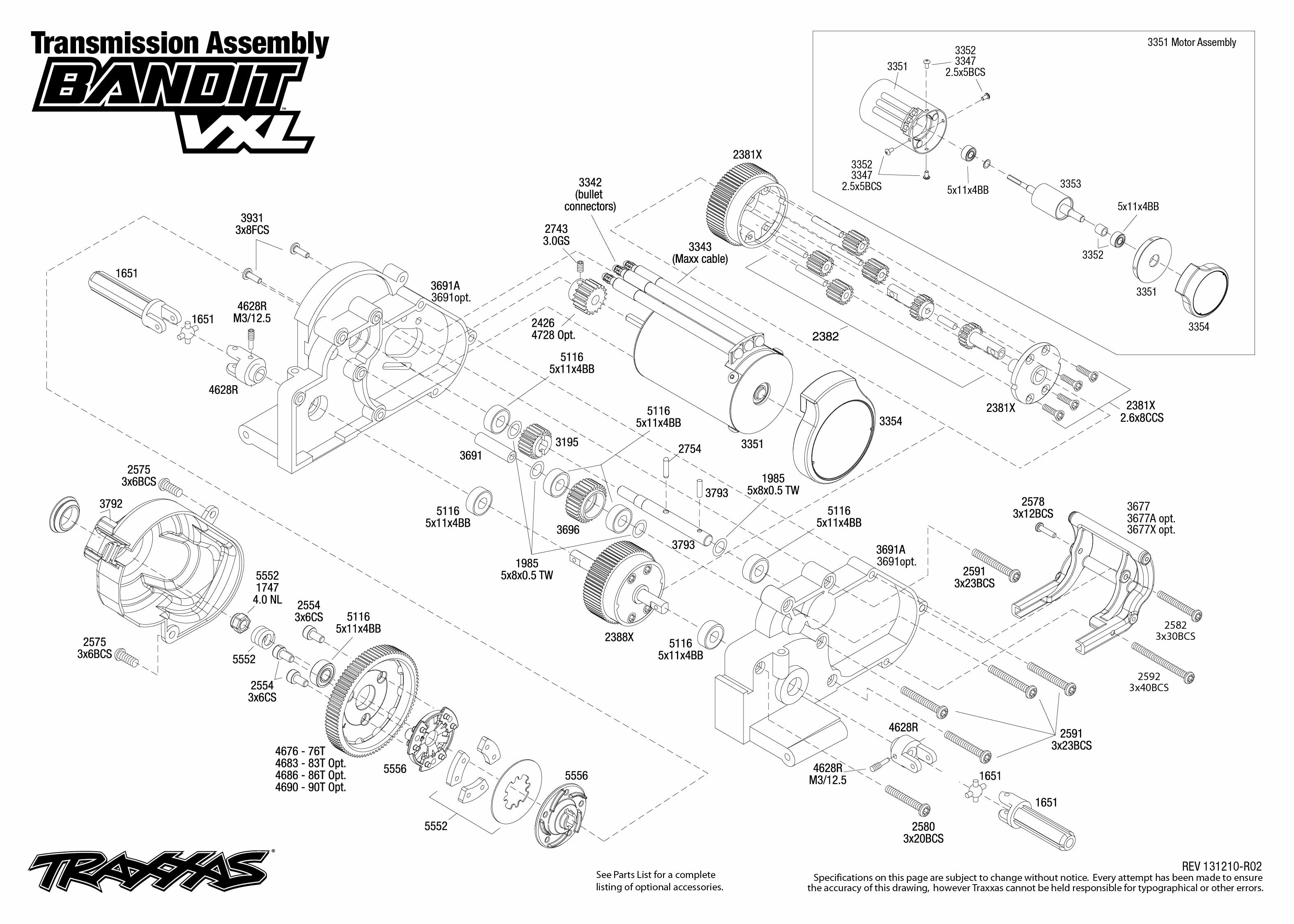 Transmission Exploded View Bandit Vxl