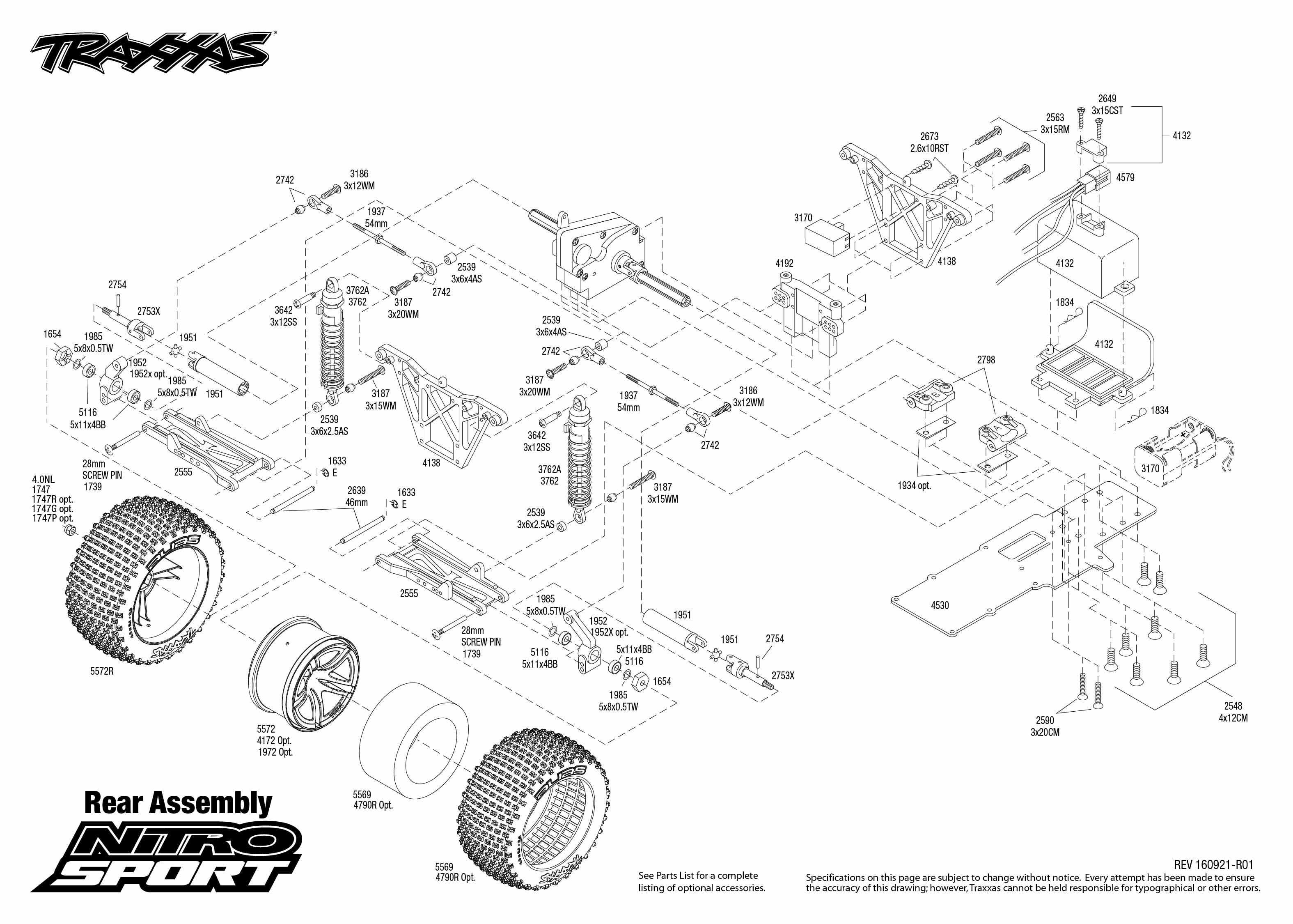 Nitro Sport 1 Rear Assembly Exploded View