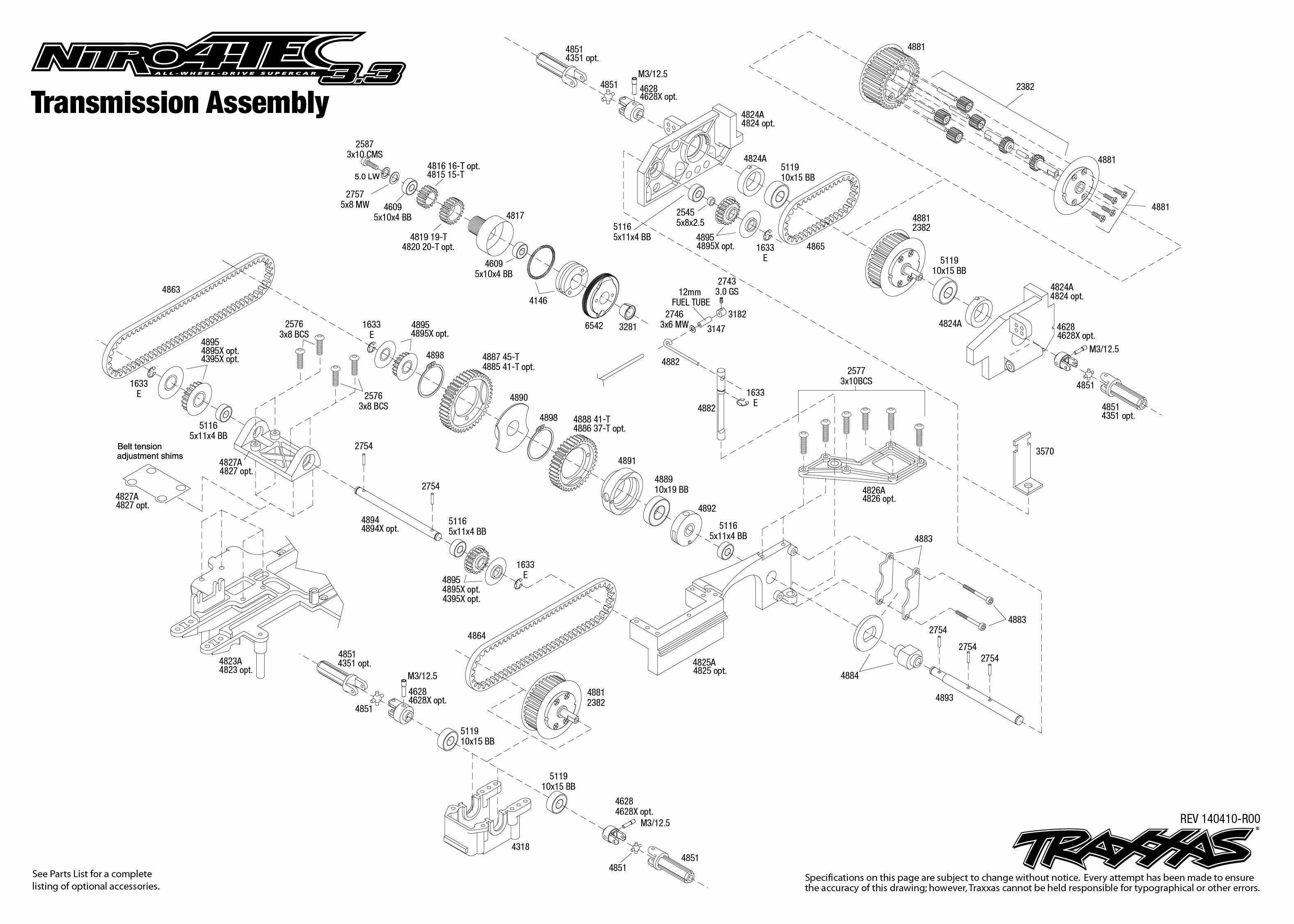Nitro 4 Tec Transmission Assembly