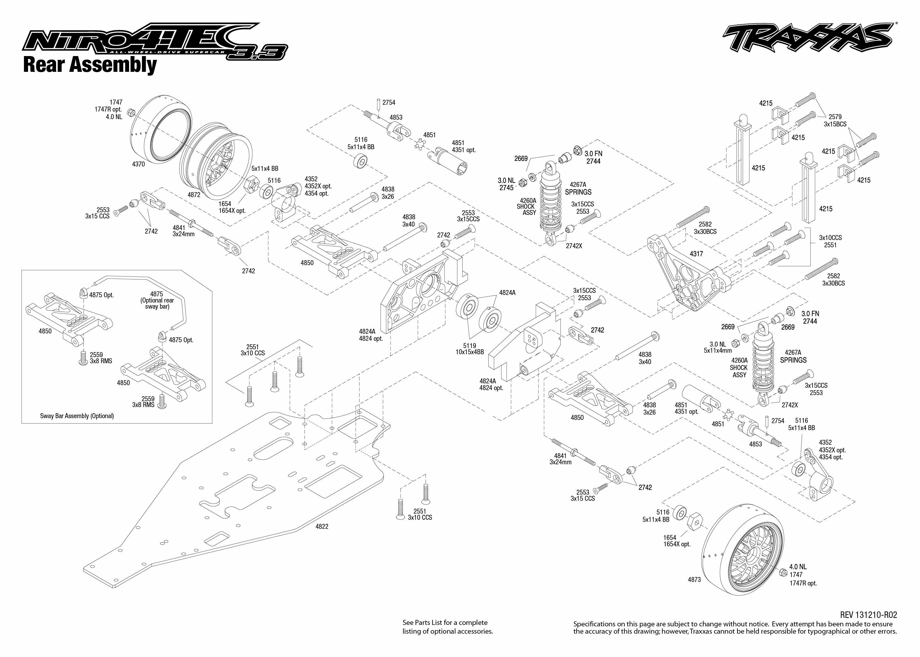 Nitro 4 Tec 3 3 Rear Assembly