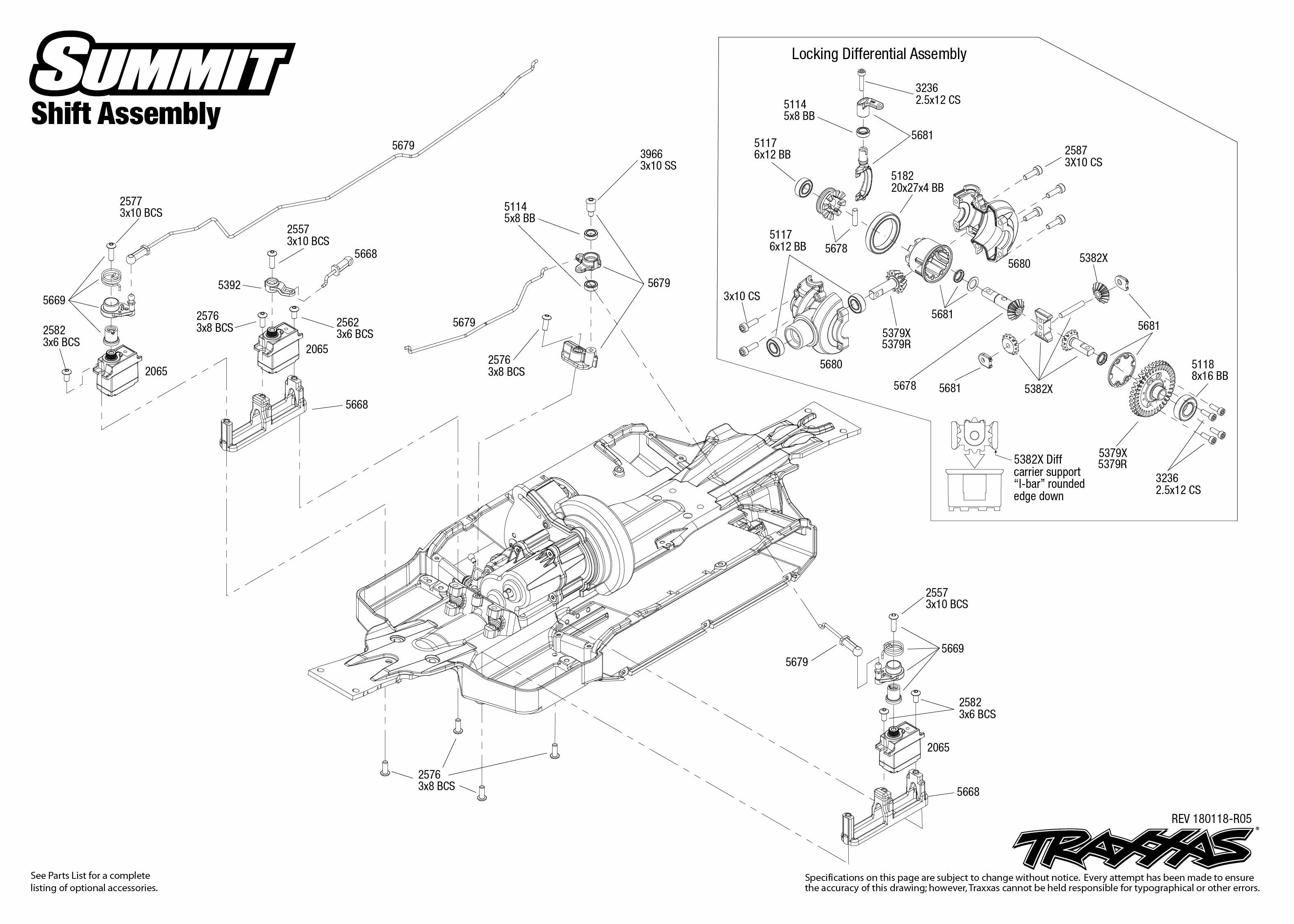 Summit 4 Shift Assembly Exploded View