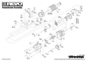 5608 Transmission Exploded View (ERevo Brushless, w TQi 24GHzDocking Base) | Traxxas