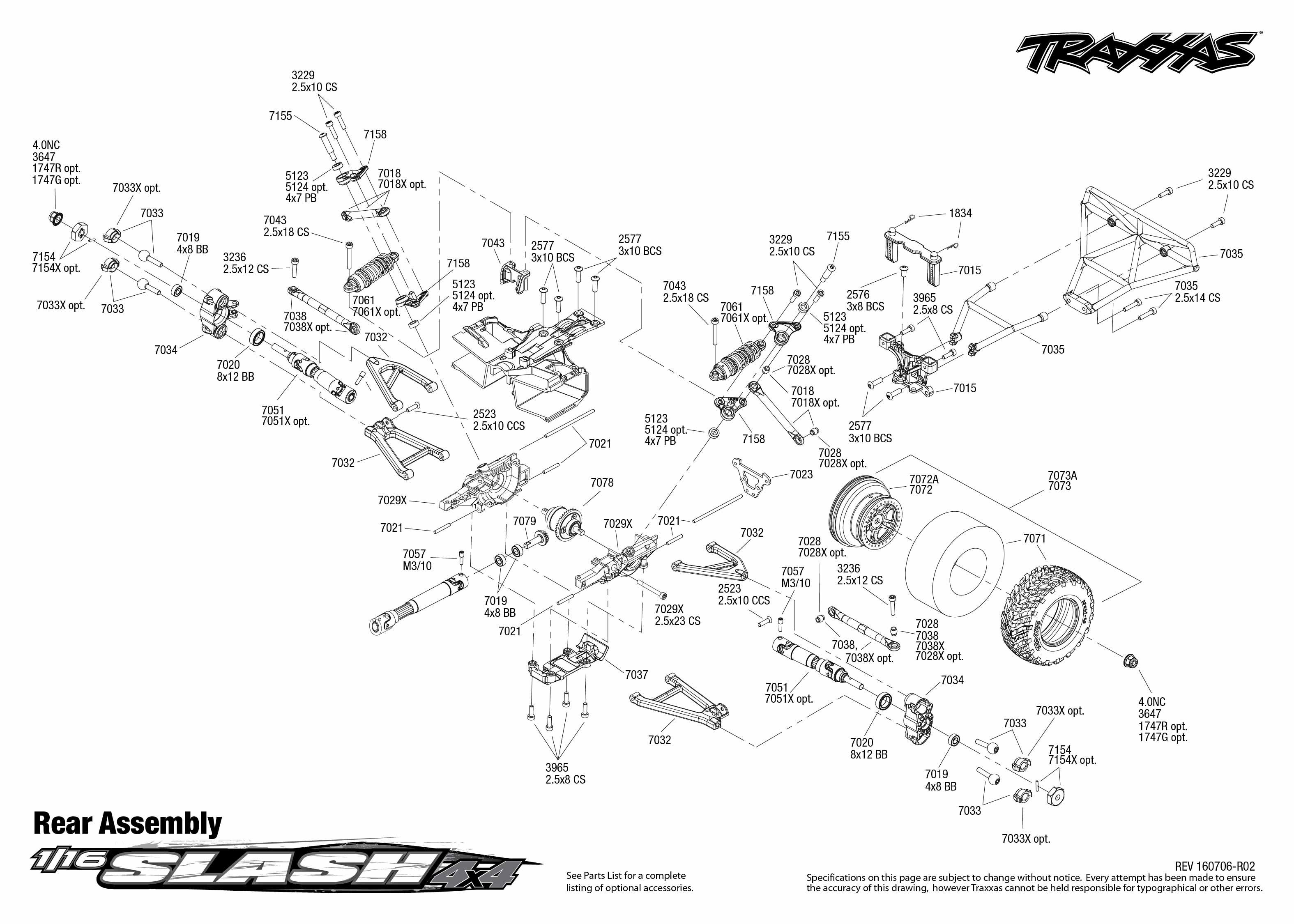 1 16 Slash 4x4 1 Rear Assembly