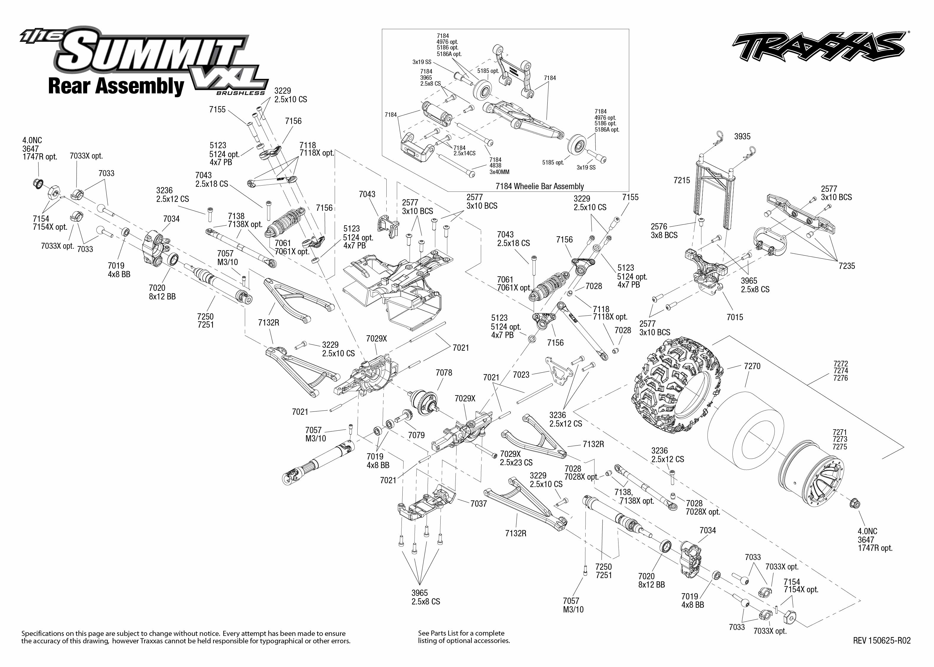 1 16 Summit Vxl 1 Rear Assembly Exploded View