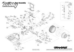 Ford Fiesta ST Rally (740546) Rear Assembly Exploded View