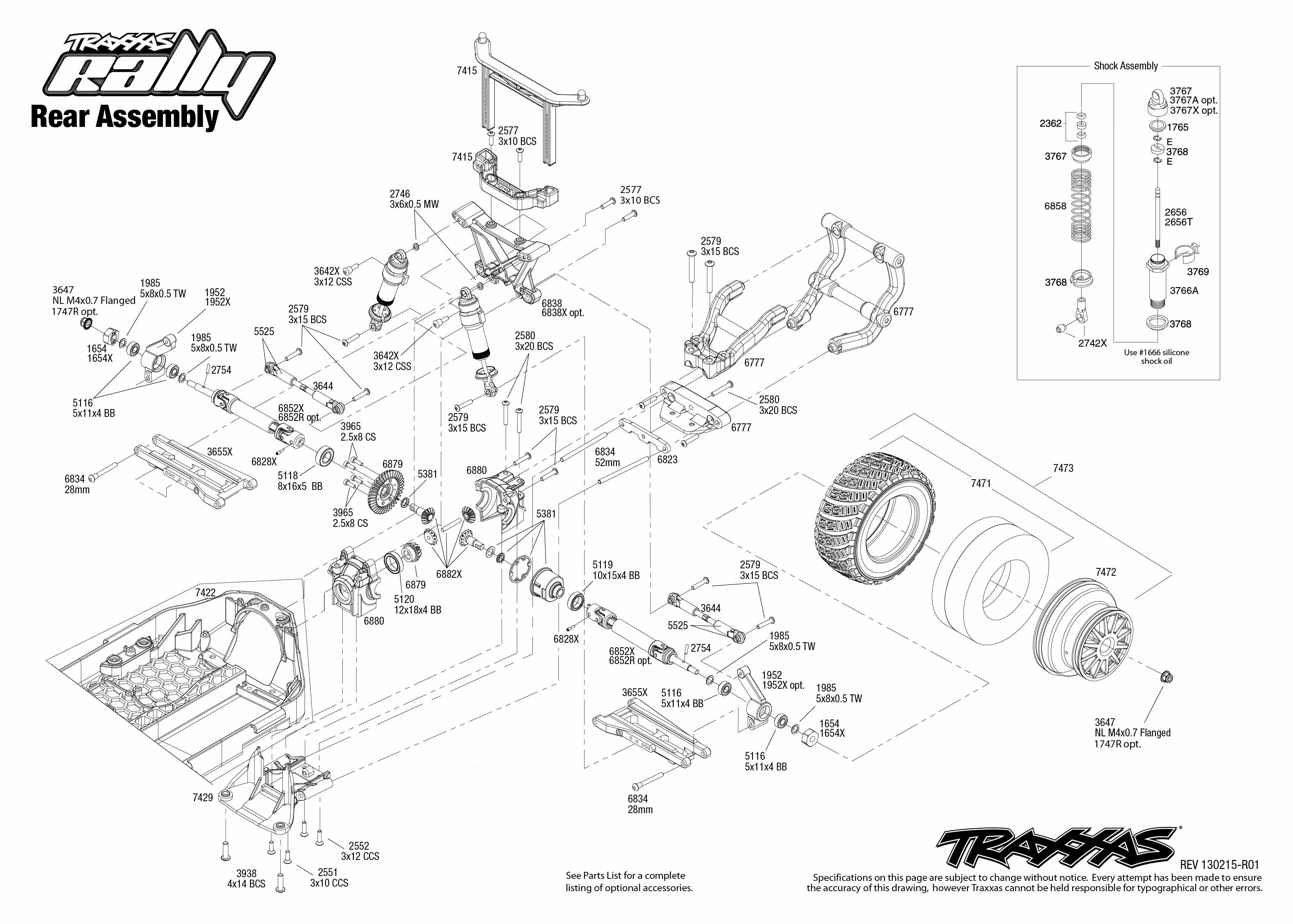 Rear Exploded View Rally