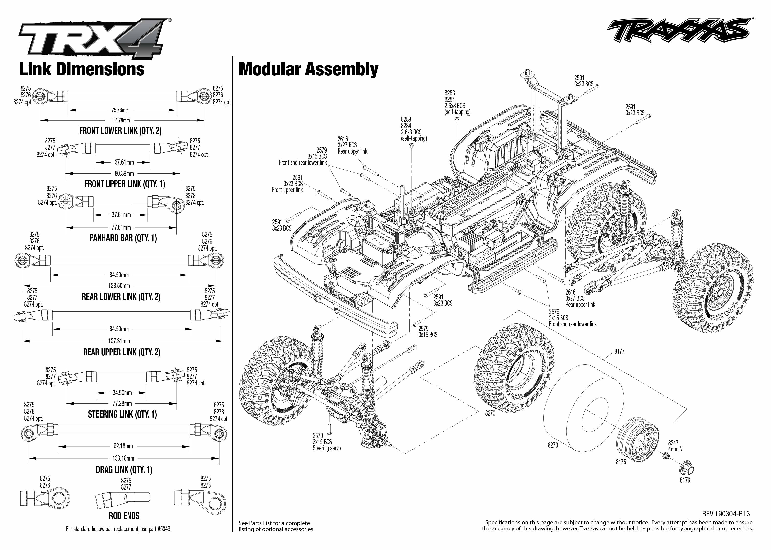 Trx 4 Ford Bronco 4 Modular Assembly Exploded View