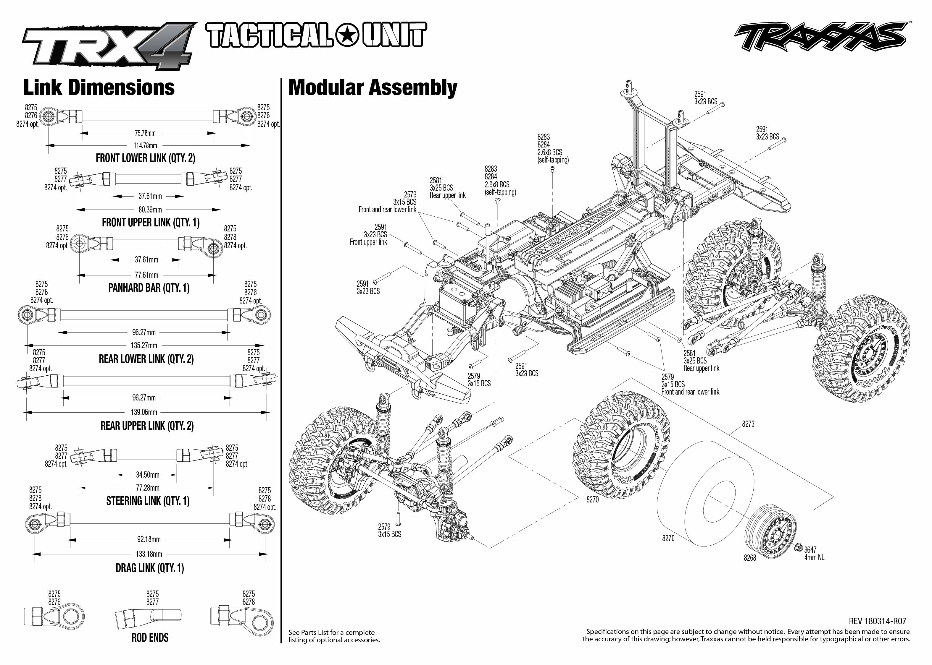 Trx 4 Tactical Unit 4 Modular Assembly Exploded
