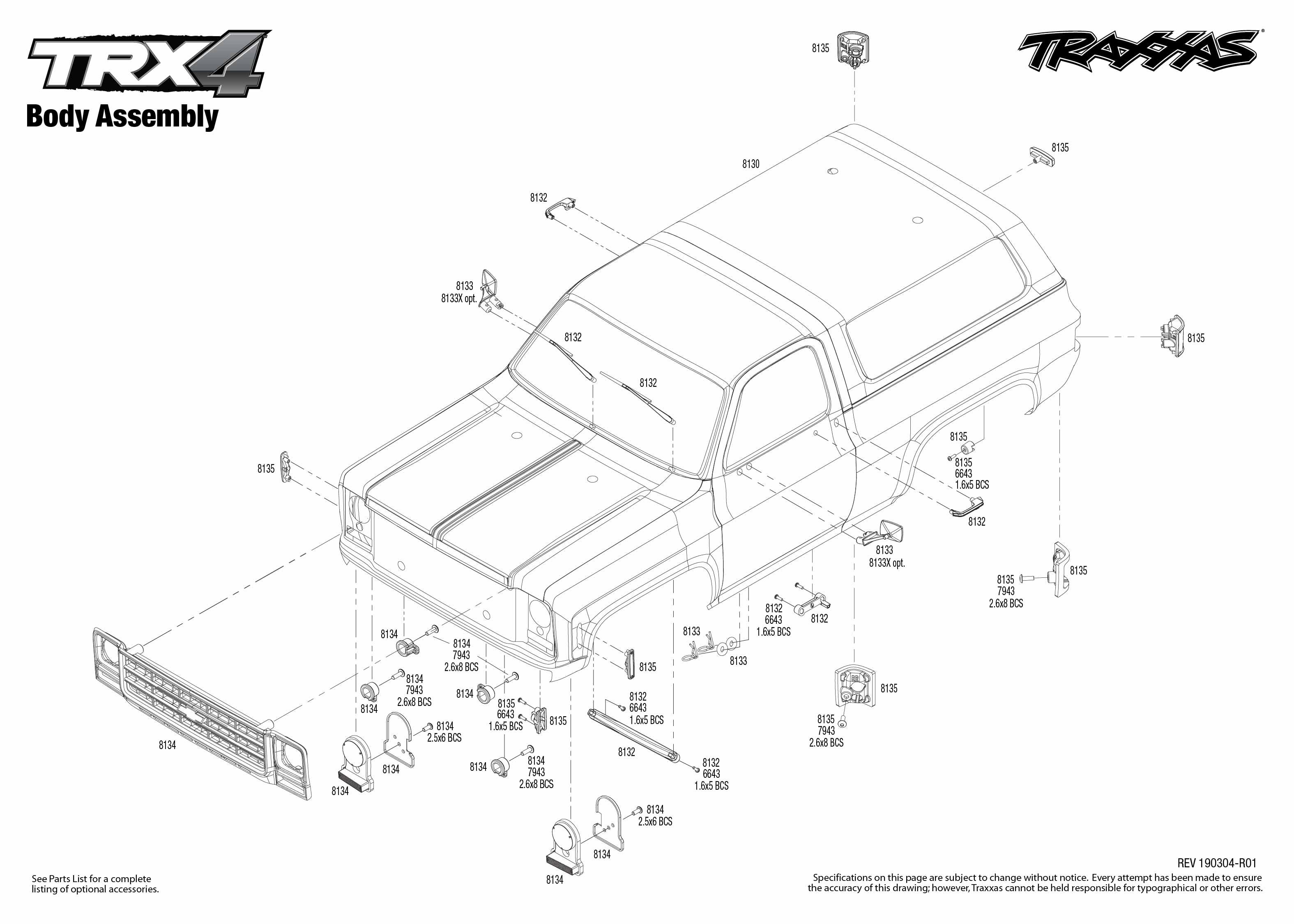 Trx 4 Chevrolet Blazer 4 Body Assembly