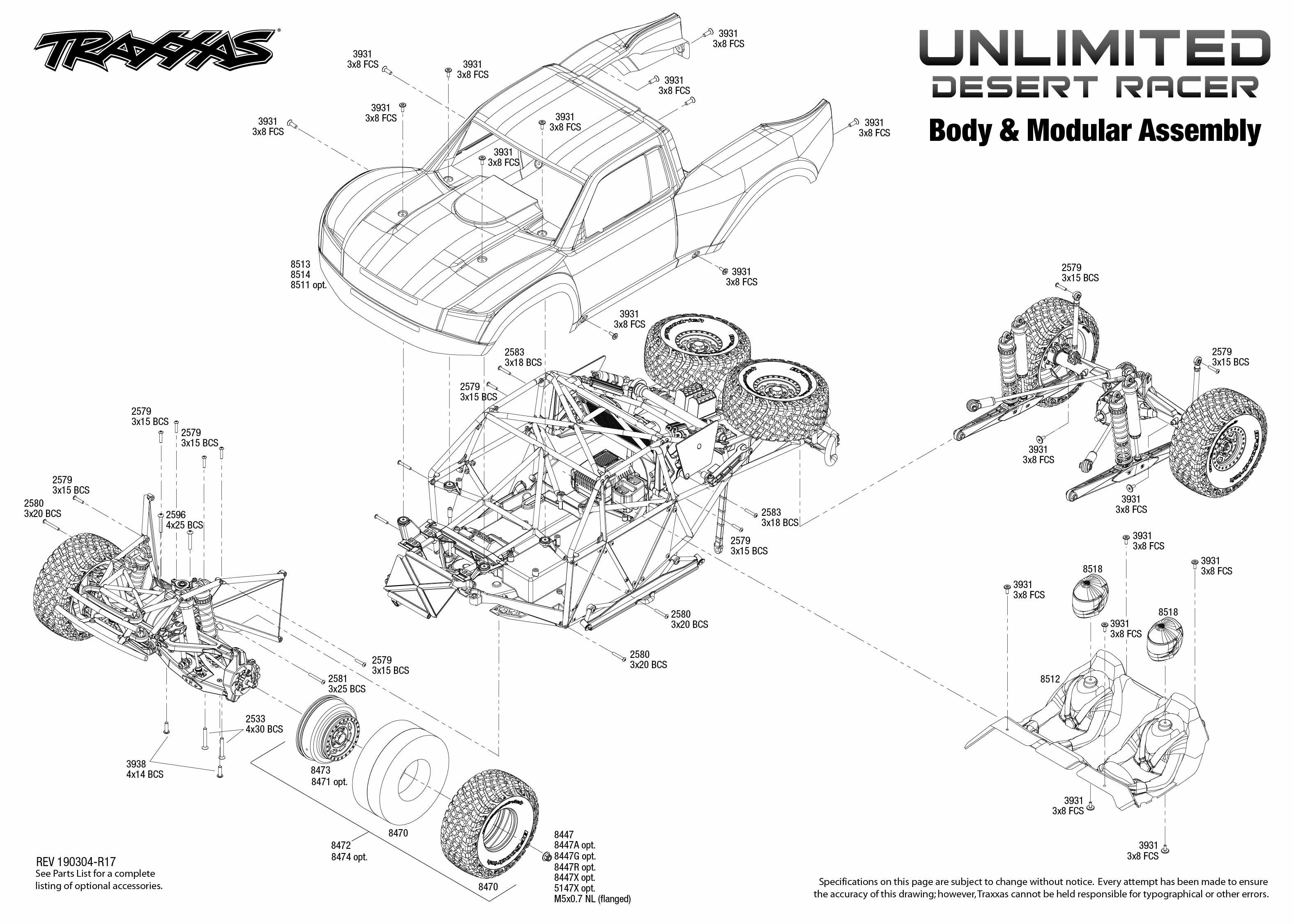 Unlimited Desert Racer 4 Body Amp Modular Assembly