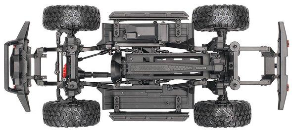 TRX-4 Sport Kit (# 82010-4) Telaio vista dall'alto (mostrato come assemblato)
