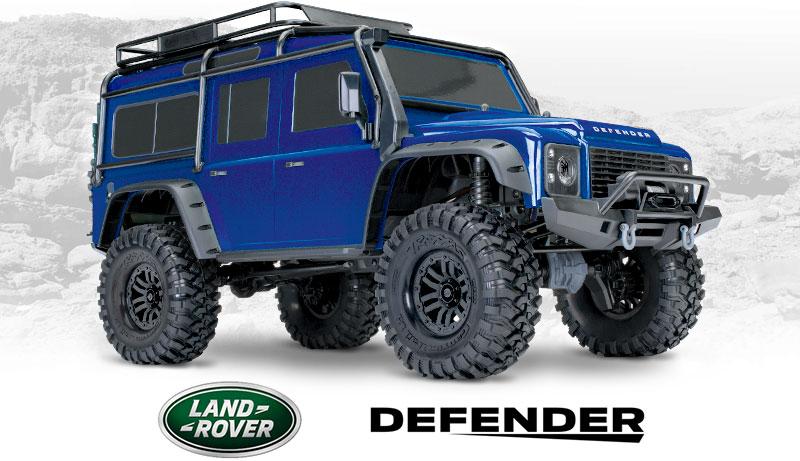 TRX-4 Defender (# 82056-4) Vista anteriore a tre quarti (blu)