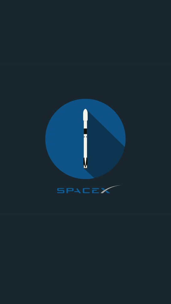 SpaceX Logo Dark Amoled iPhone Wallpapers