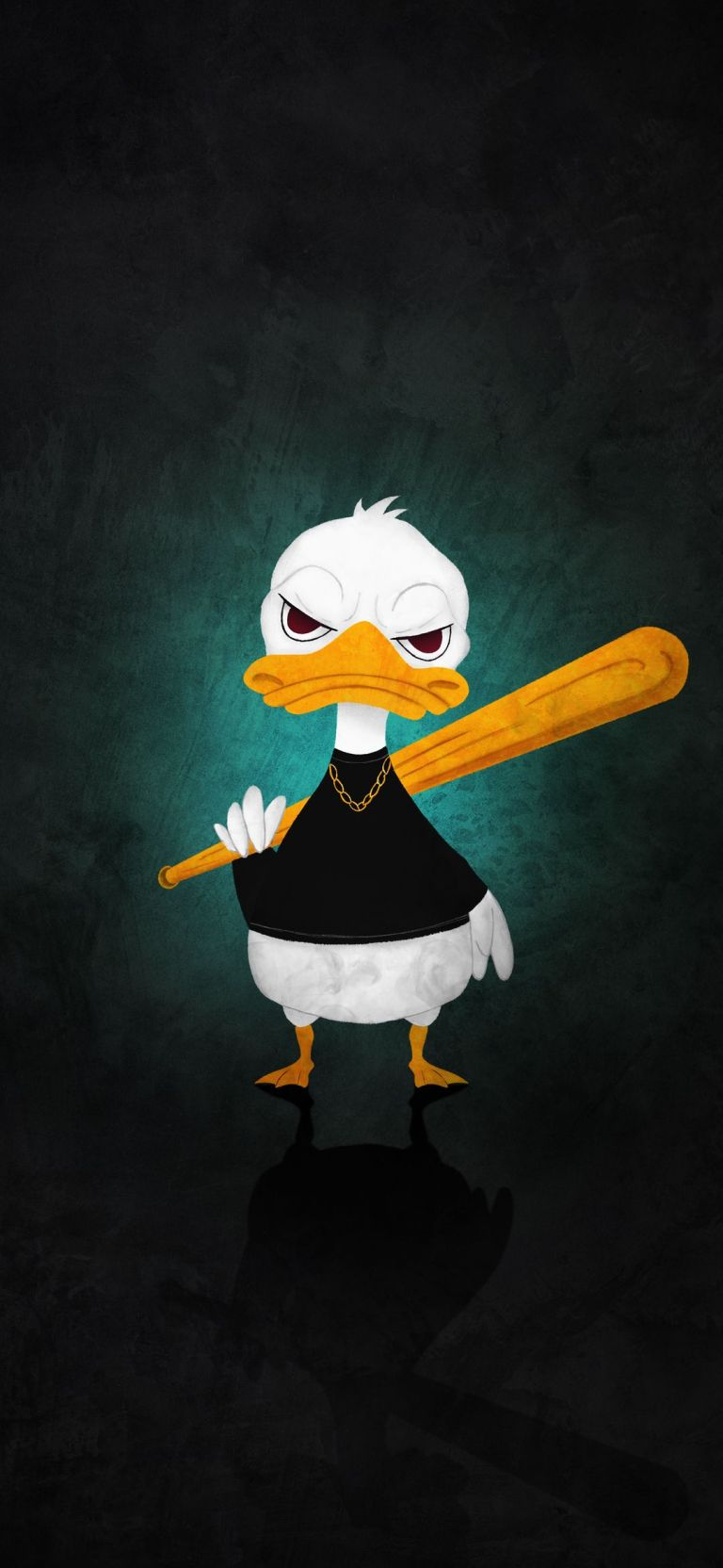 Angry Duck With Baseball Racket Amoled OnePlus 8 Wallpaper